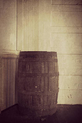 Photograph - Wooden Barrel by Marilyn Wilson