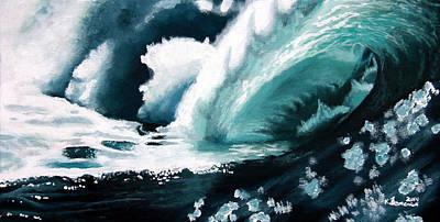 Barrel Painting - Barreling Storm by Kayleigh Semeniuk