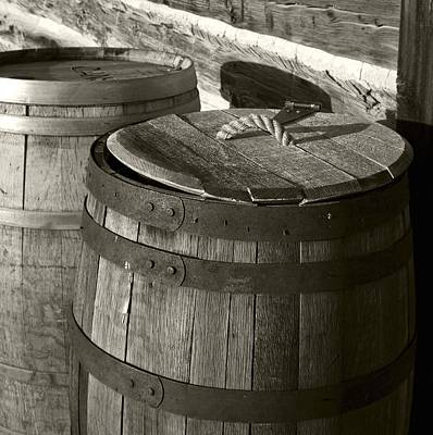 Photograph - Barrels In Sepia by Sonya Lang