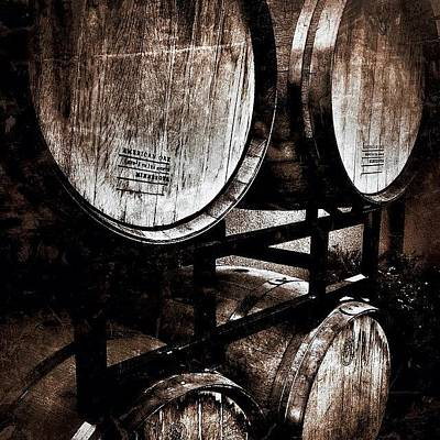 Photograph - Barrels O' Wine by Kathleen Messmer