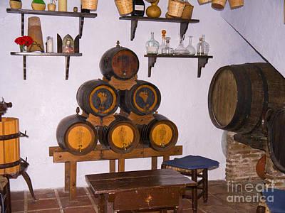Photograph - Barrels Of Sunshine Wine In Frigiliana by Brenda Kean