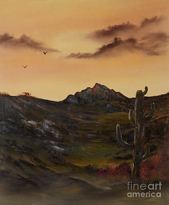 Cynthia-adams-uk Painting - Barren Land Lone Sentry  by Cynthia Adams