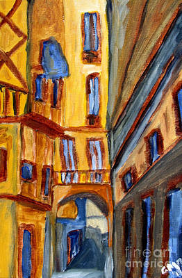 Espana Painting - Barri Gotic by Greg Mason Burns