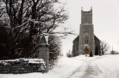 Photograph - Barriefield Church In Winter by Jim Vance