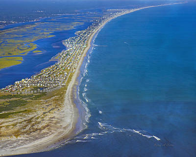 Barrier Island Aerial Art Print by Betsy Knapp