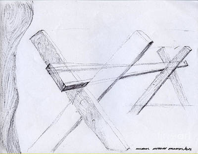 Drawing - Barrier by Michael Anthony Edwards