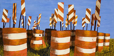 Painting - Barriers by Garry McMichael