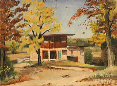 Painting - Barrington Home And Studio 1956 by Art By Tolpo Collection
