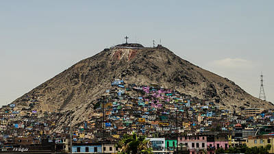 Photograph - Barrio In Lima by Allen Sheffield