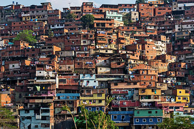 Barrios, Slums Of Caracas Art Print