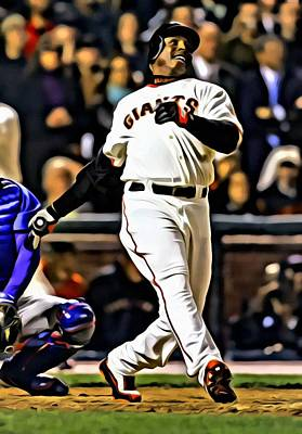Pirates Painting - Barry Bonds Canvas by Florian Rodarte