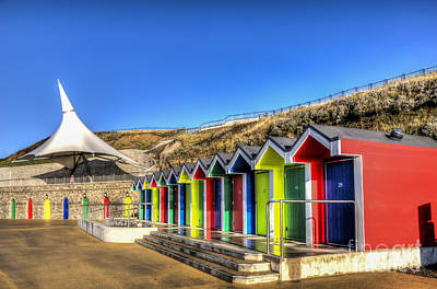 Animal Watercolors Juan Bosco - Barry Island Beach Huts 11 by Steve Purnell
