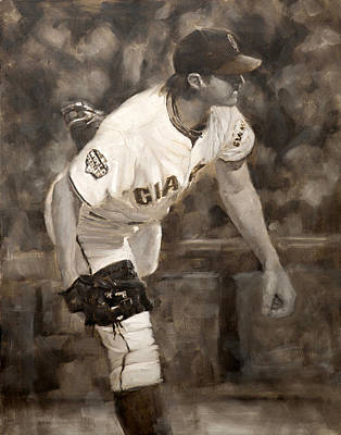 Barry Zito - Redemption Art Print by Darren Kerr