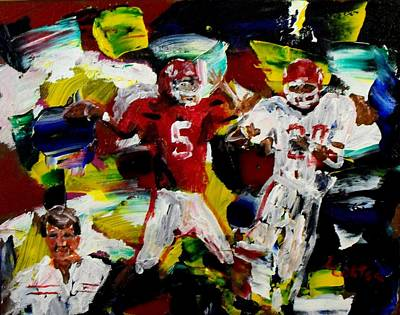 Ncaa Painting - Barry's Boys by Larry Carter