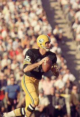 Football Photograph - Bart Starr Buying Time by Retro Images Archive