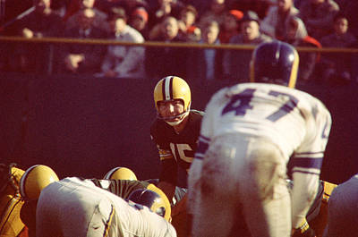 Bart Starr Calls Play Print by Retro Images Archive
