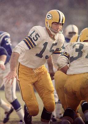 Football Photograph - Bart Starr Hands Off by Retro Images Archive