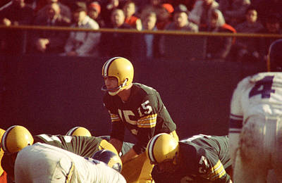 Bart Starr Looks Ahead Print by Retro Images Archive