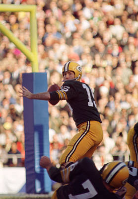 Bart Starr Throwing Print by Retro Images Archive