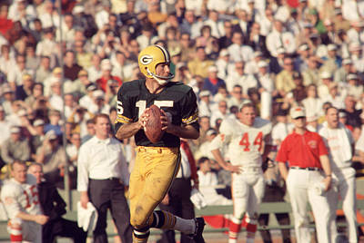 Bart Starr Vs. Chiefs Art Print