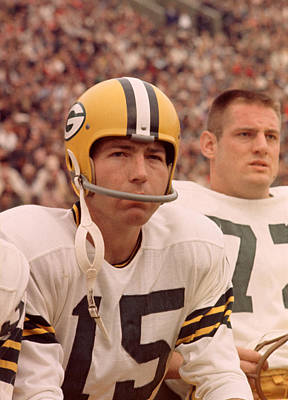 Bart Starr Watches From The Sideline Art Print