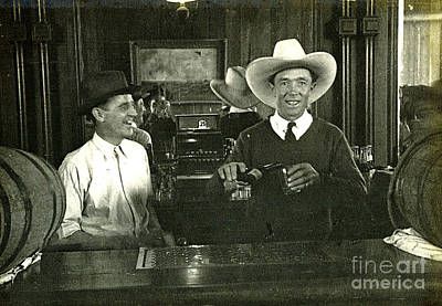 Photograph - Bartender 1935 by Patricia  Tierney