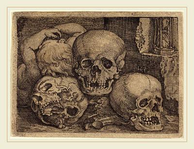 Barthel Beham German, 1502-1540, Child With Three Skulls Art Print