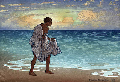 Net Painting - Bartlett Fisherman by Granger