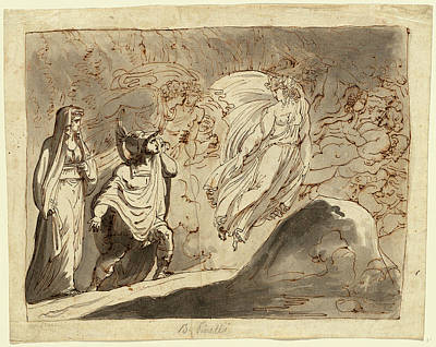 1835 Drawing - Bartolomeo Pinelli, Italian 1781-1835, Aeneas by Litz Collection