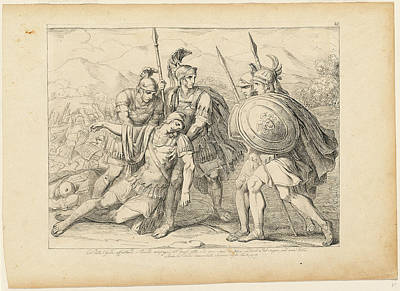 1835 Drawing - Bartolomeo Pinelli, Italian 1781-1835, Four Warriors by Litz Collection