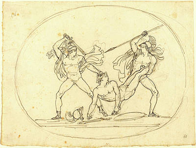 1835 Drawing - Bartolomeo Pinelli, Italian 1781-1835, Two Classical by Litz Collection