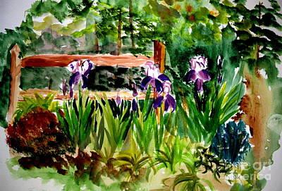 Barton Painting - Barton Garden En Plein Air by Donna Walsh