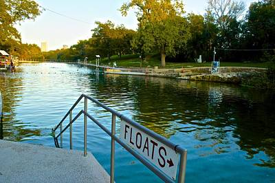 Photograph - Barton Springs Pool In Austin Texas by Kristina Deane