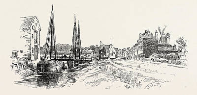 Parish Drawing - Barton-upon-humber Or Barton Is A Town And Civil Parish by English School