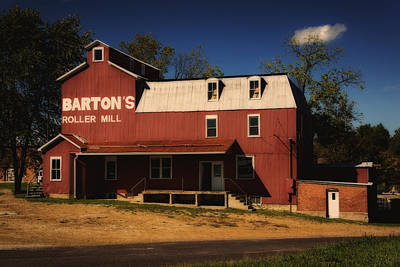 Photograph - Bartons Roller Mill Gerald Mo Dsc08243 by Greg Kluempers