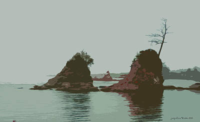Barview Rocks Art Print