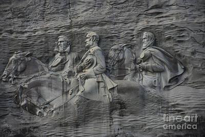 War Relief Photograph - Bas Relief At Stone Mountain by David Bearden