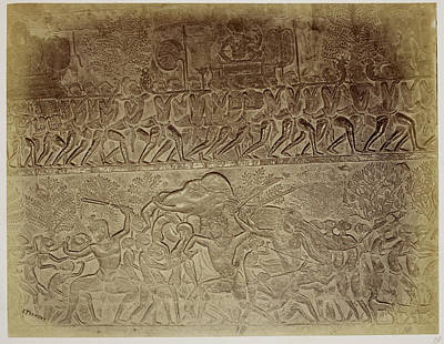 Bas Relief Photograph - Bas-relief by British Library