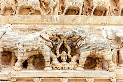 Bas Relief Jagdish Temple Udaipur Art Print
