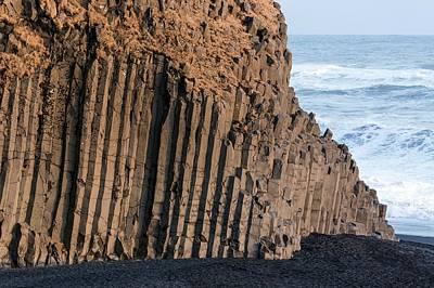 Basalt Columns On Beach Art Print