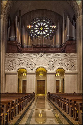 Photograph - Basilica Organ by Erika Fawcett