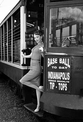 Photograph - Base Ball To Day Bw Version by Jim Poulos