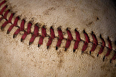 Baseball Close-up Photograph - Baseball - America's Pastime by David Patterson