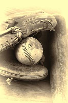 Photograph - Baseball And Baseball Bat by Dan Sproul