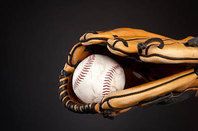 Baseball And Glove Print by Joe Belanger