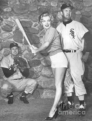 Photograph - Baseball And Marilyn  by R Muirhead Art