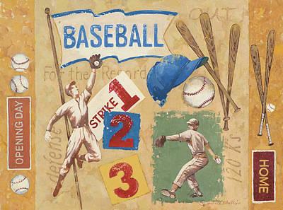 Baseball Painting - Baseball by Anita Phillips
