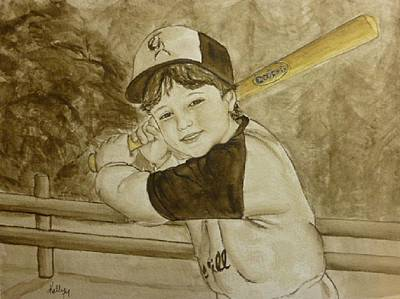 Painting - Baseball At It's Best by Kelly Mills