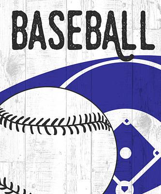 Baseball Painting - Baseball by Aubree Perrenoud