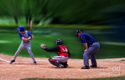 Baseball Batter Up Art Print by Thomas Woolworth